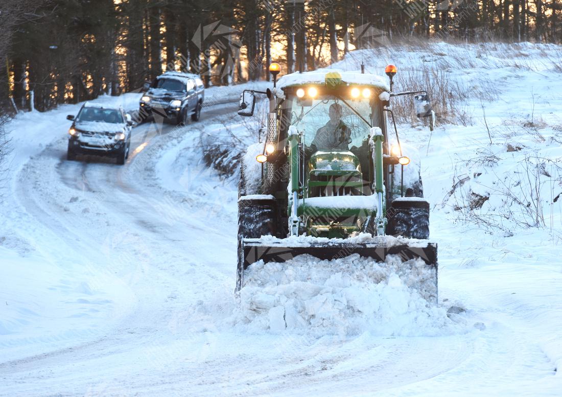Heavy snow Scottish Borders , Scotland